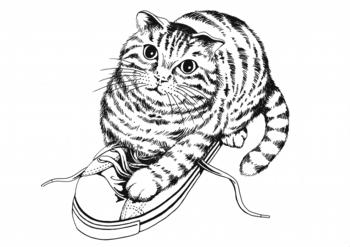 フェリシモにゃん巾着猫イラスト365cat.art