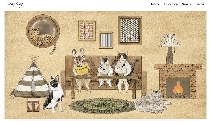 paw's living GIF猫イラスト365cat.art