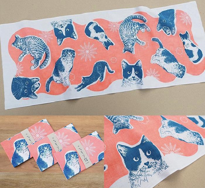 手ぬぐい猫イラスト365cat.art