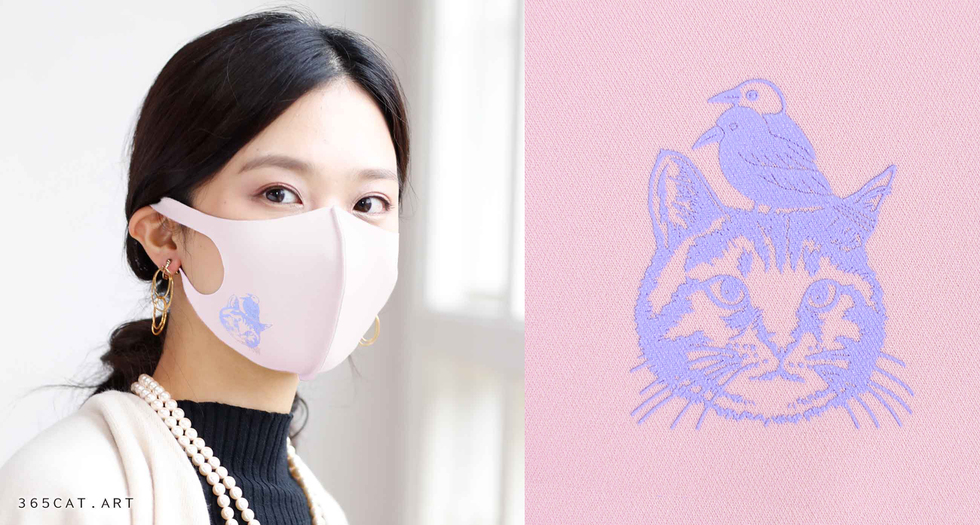 TAKUMIBAマスク ヨゲンノトリ/イラスト365cat.art