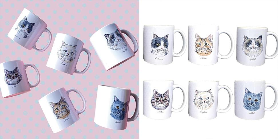 マグカップ猫イラスト365cat.art